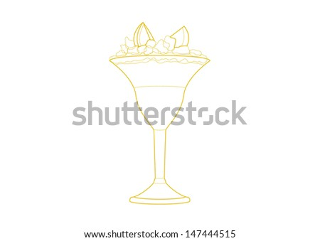 Cocktail vector illustration isolated on white background - stock vector