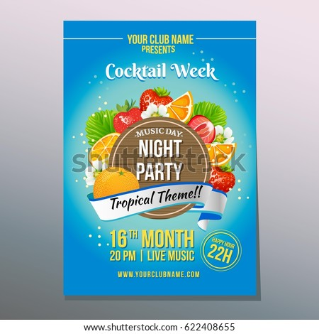 cocktail week poster