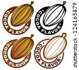 Cocoa Flavor Seal / Mark - stock vector