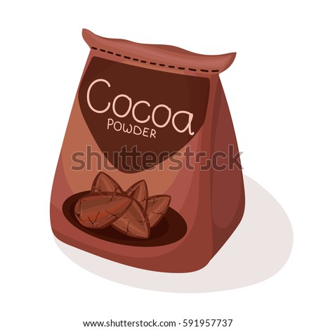 Cocoa Powder In Vacuum Packaging Vector Illustration