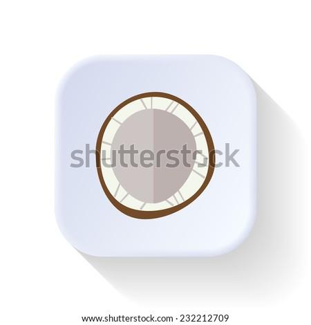 Coconut fruit vector graphic illustration design art - stock vector