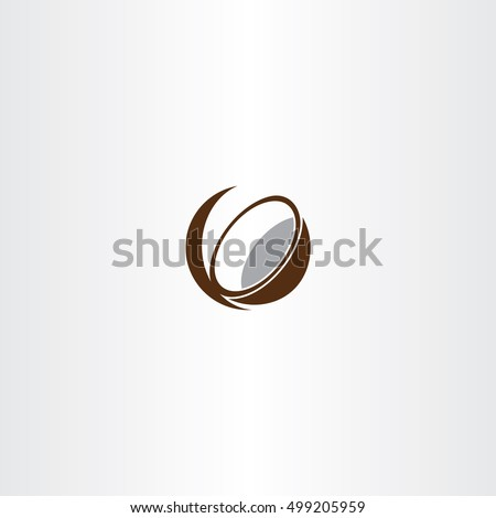 coconut icon vector symbol design