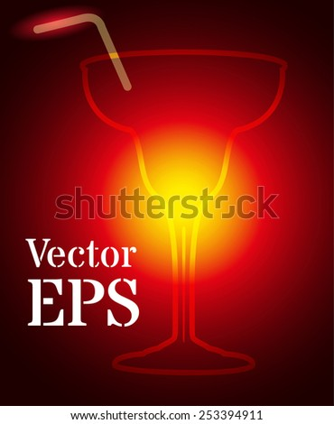 coctail with light - stock vector