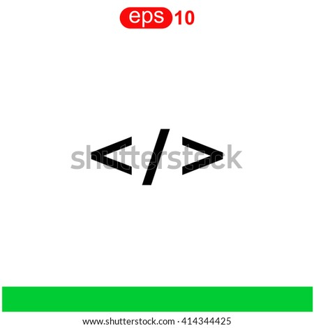 Code icon. Code icon vector. Code icon illustration. Code icon web. Code icon Eps10. Code icon image. Code icon logo. Code icon sign. Code icon art. Code icon flat. Code icon design. Code icon app. - stock vector