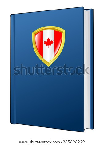 code of laws of Canada - stock vector