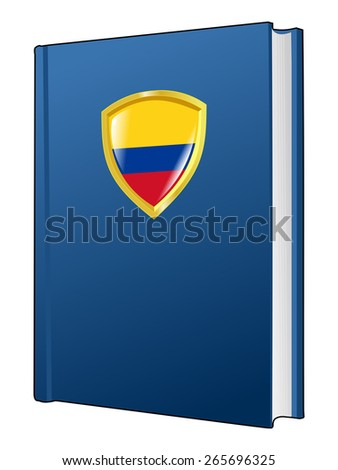 code of laws of Colombia - stock vector