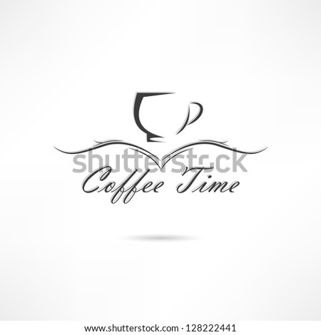 Cofe time - stock vector