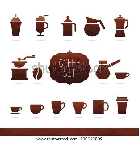 Coffe Set. Coffee icon - stock vector