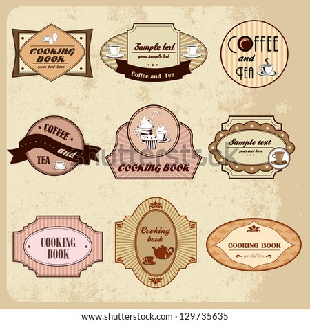 Coffee And Cooking Badges - Vector Illustration, Graphic Design Editable For Your Design