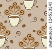 Coffee Aroma Pattern. Seamless pattern can be used for wallpaper, pattern fills, web page background,surface textures. - stock vector