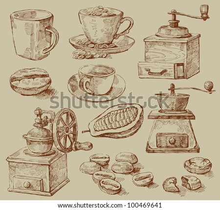 coffee background - stock vector