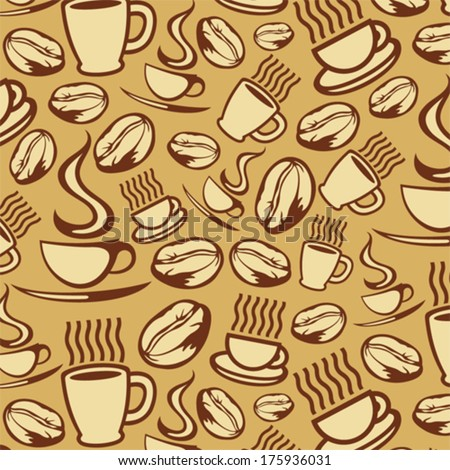 coffee background (coffee seamless background) - stock vector