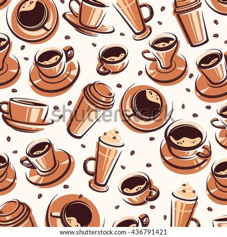 Coffee background. Vector - stock vector
