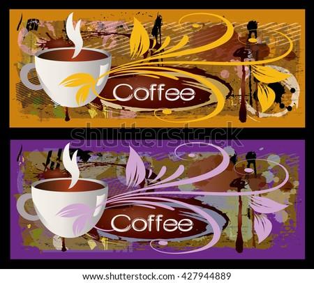 coffee. banner - stock vector