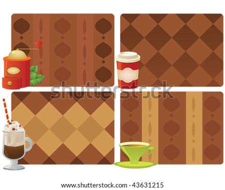 coffee banners set - stock vector