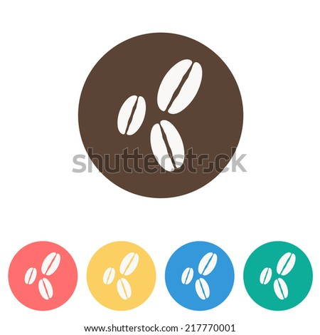Coffee bean icon , vector illustration - stock vector