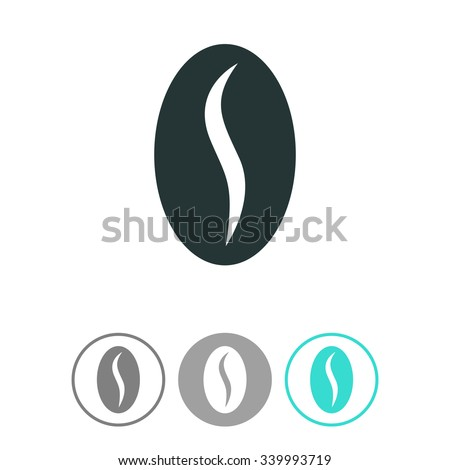 Coffee bean vector icon. - stock vector
