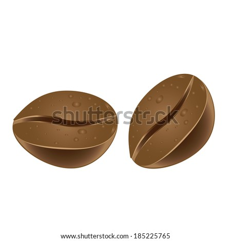 Coffee beans - stock vector