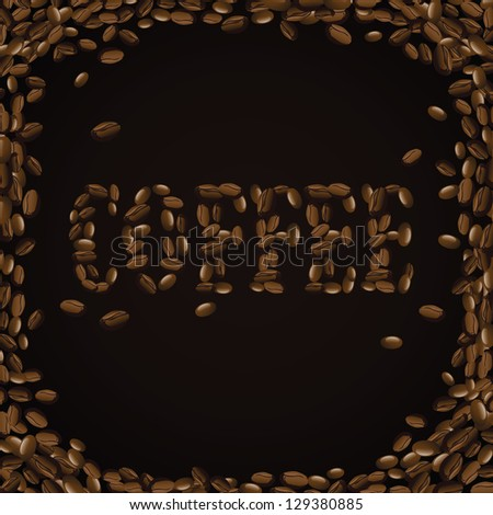 Coffee Beans. EPS 8 vector, grouped for easy editing. No open shapes or paths.