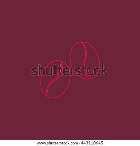 coffee beans Icon - stock vector