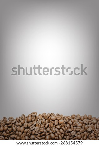 Coffee beans on white background. Vector. - stock vector