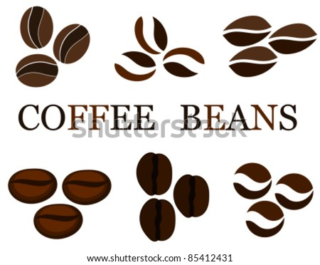 Coffee beans various kinds in collection. Vector illustration - stock vector