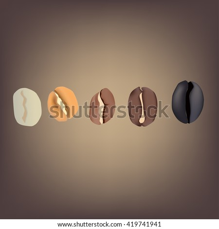 Coffee Beans Vector Illustration Design   Coffee Natural   Food and Drink - stock vector