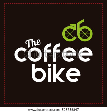 Coffee Bike Vector Logo Design Template Shop Labels
