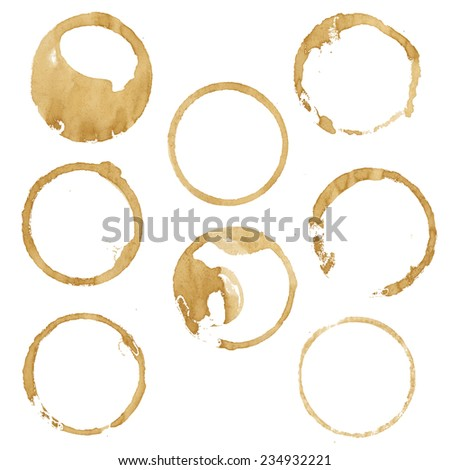 Coffee Blobs, Vector Illustration - stock vector