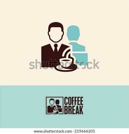 coffee break - stock vector