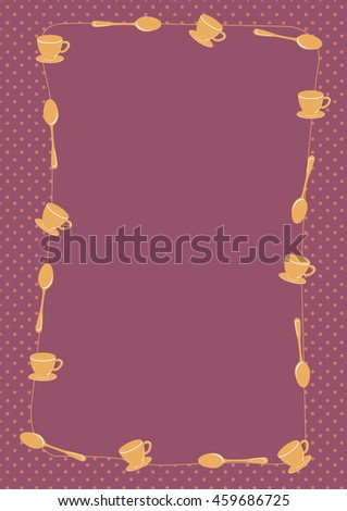 coffee cup and spoon vector background - stock vector