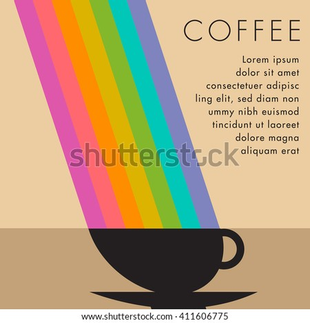 Coffee Cup Background with Space for Type - stock vector