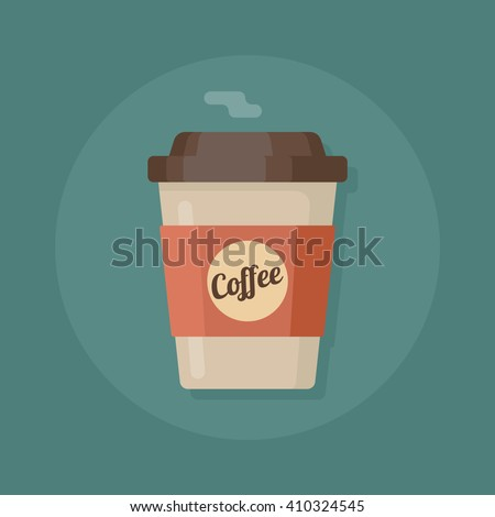 Coffee cup. Coffee cup vector illustration. Coffee cup icon - stock vector