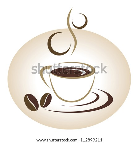 Coffee cup emblem - stock vector