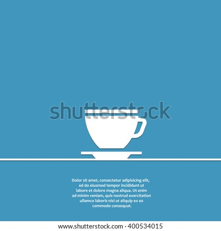 coffee cup flat vector icon. coffee cup icon eps. coffee cup icon jpg. coffee cup icon sign. coffee cup icon art. coffee cup icon drawing. coffee cup icon design. coffee cup icon isolated.  - stock vector