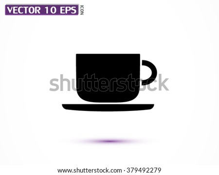 Coffee cup icon, Coffee cup icon eps 10, Coffee cup icon vector, Coffee cup icon illustration, Coffee cup icon jpg, Coffee cup icon picture, Coffee cup icon flat, Coffee cup icon design - stock vector