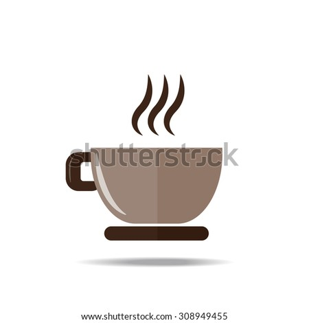 coffee cup icon on white background, vector EPS 10. - stock vector