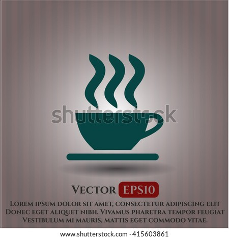 Coffee Cup icon or symbol - stock vector