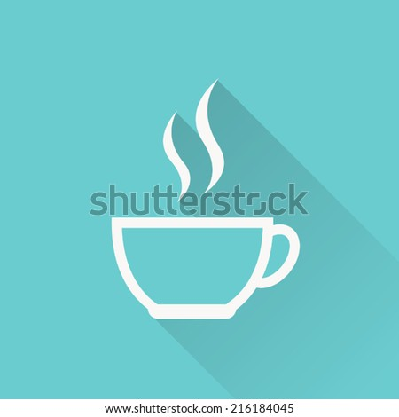Coffee Cup Flat Icon Coffee Cup Icon Vector