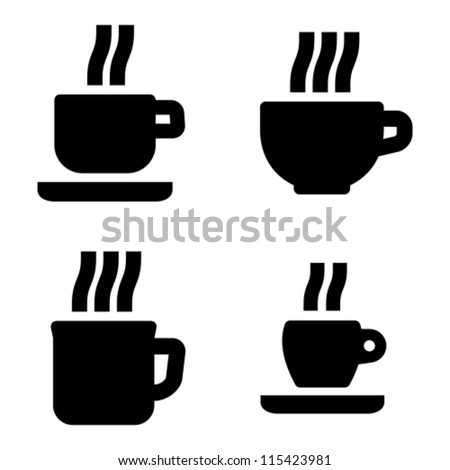 Coffee cup icons - stock vector