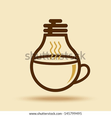 coffee cup idea for business - stock vector