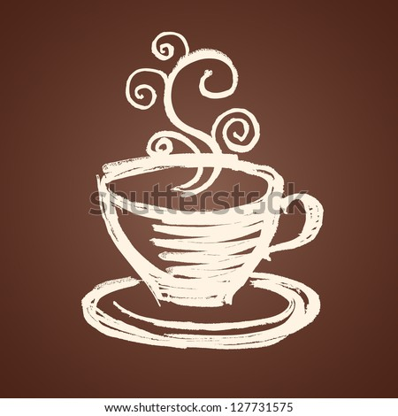 coffee cup illustration - stock vector