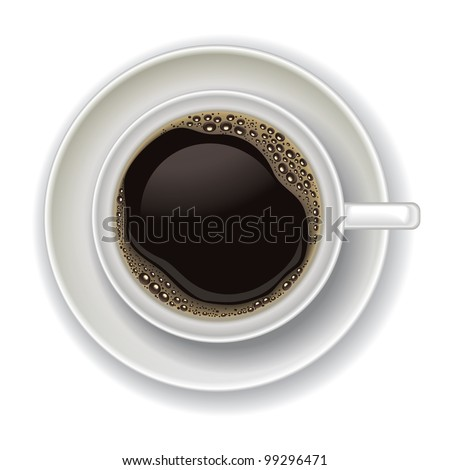 coffee cup isolated on a white background - stock vector