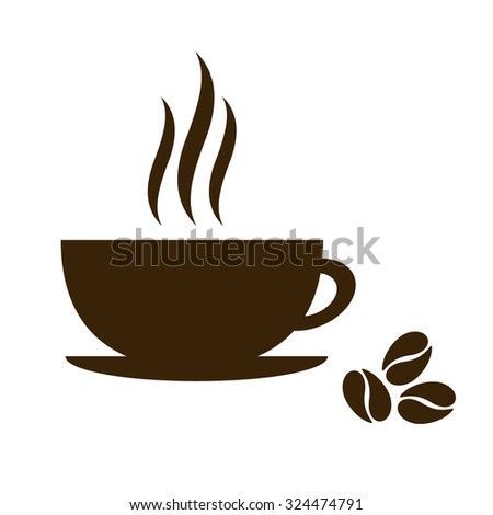 Coffee cup isolated on white background. vector illustration