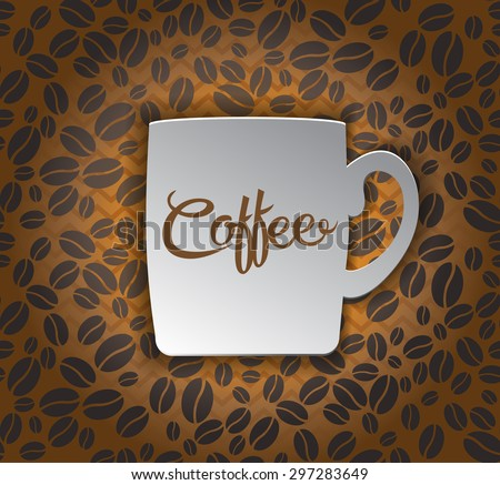 Coffee Cup on seamless pattern