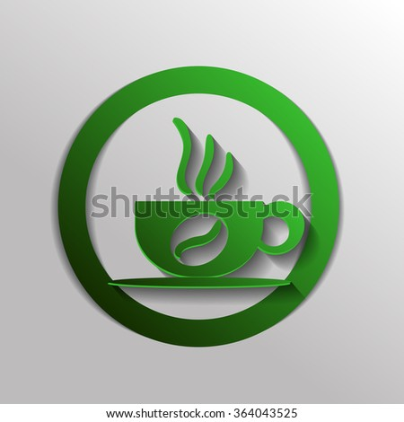 Coffee cup or tea symbol icon. Cup of hot drink sign. Symbol of hot drink . Icon cafe or diner.