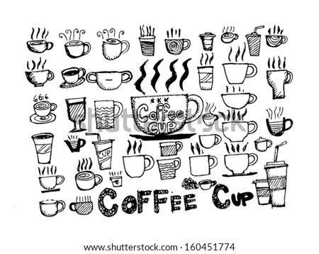 how to draw a cup of coffee and tes