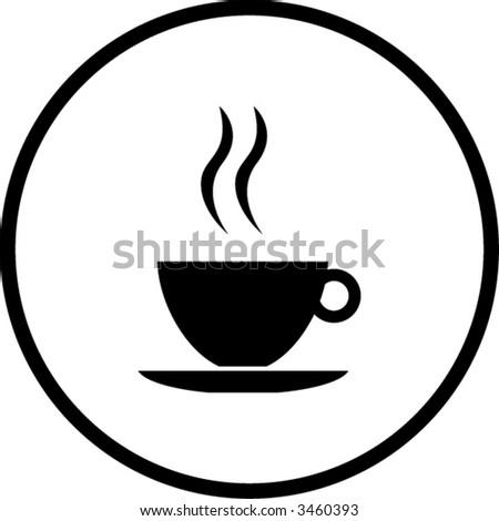 Coffee Cup Symbol Stock Photo Photo Vector Illustration 3460393