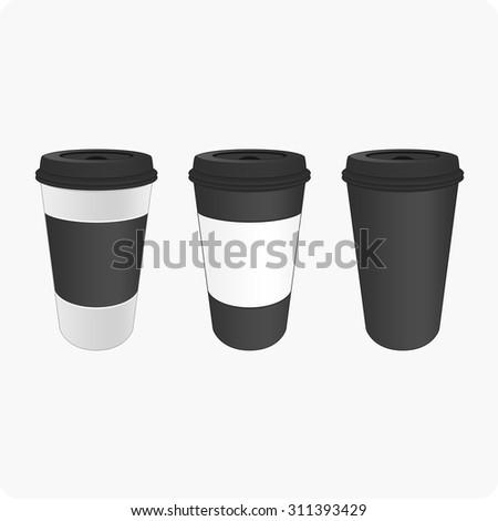 Coffee cup vector.  - stock vector