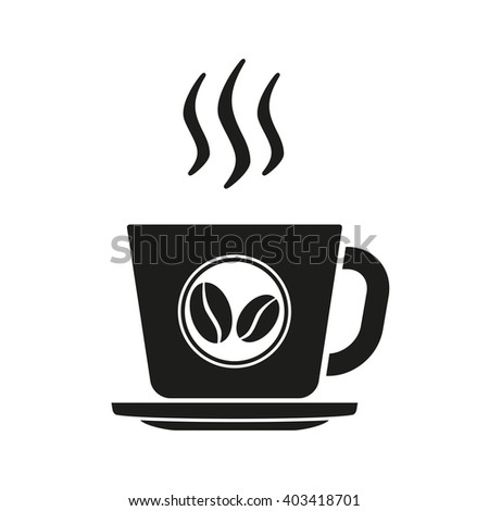 Coffee cup. Vector coffee cup icon isolated on white background. - stock vector